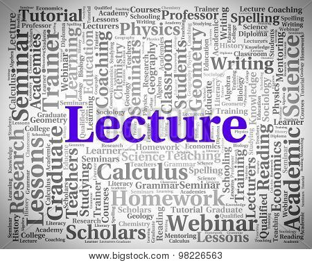 Lecture Word Indicates Discourse Talk And Recitations