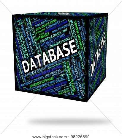 Database Word Shows Computers Storage And Computer