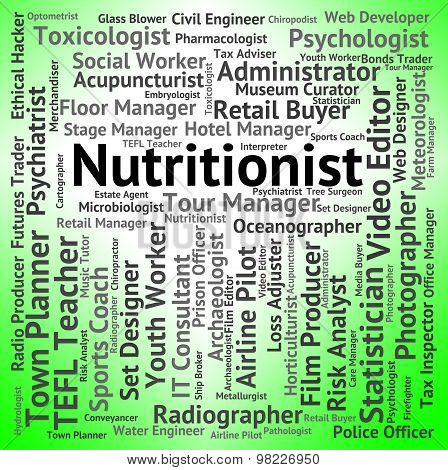 Nutritionist Job Means Hire Food And Jobs
