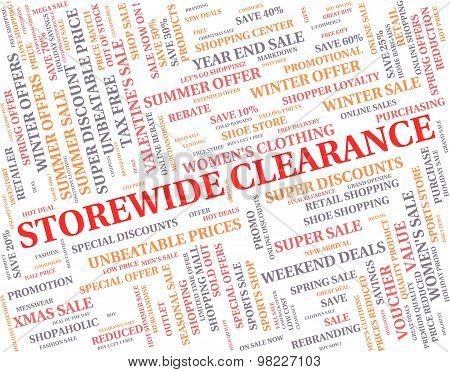 Storewide Clearance Indicates The Lot And Bargain