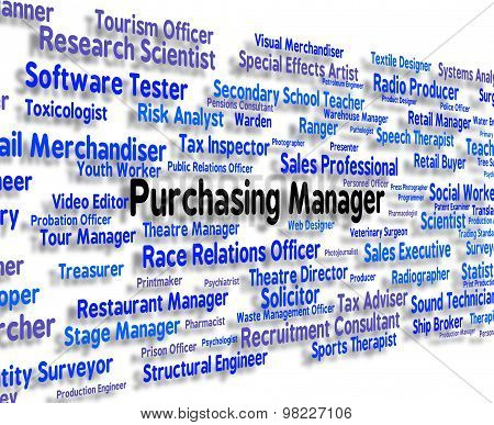 Purchasing Manager Indicates Word Client And Buy