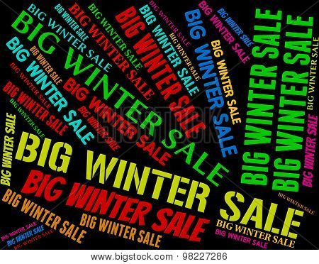 Big Winter Sale Represents Cheap Promotion And Words