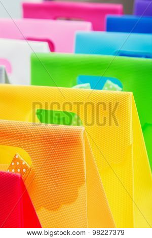 Colorful Shopping Bags Background