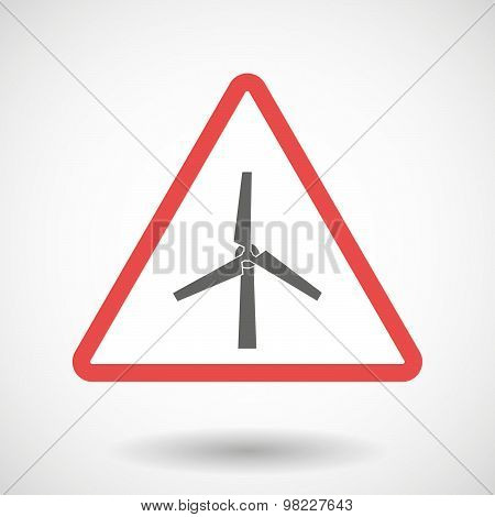 Warning Signal With A Wind Generator