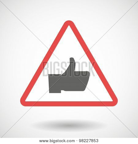Warning Signal With A Thumb Up Hand