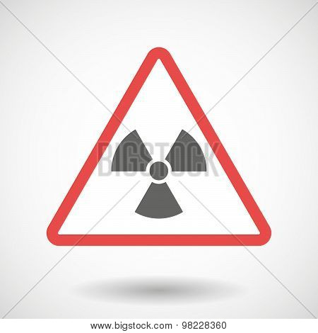 Warning Signal With A Radio Activity Sign