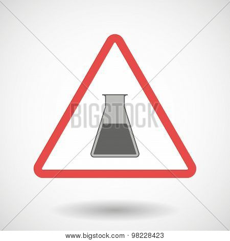 Warning Signal With A Chemical Test Tube