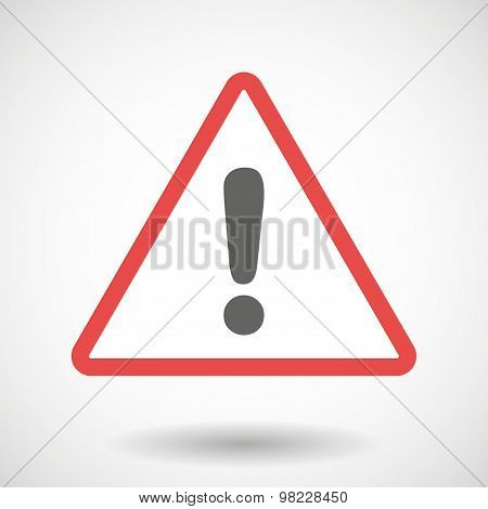 Warning Signal With An Exclamarion Sign
