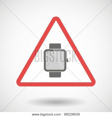 Warning Signal With A Smart Watch