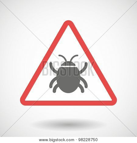 Warning Signal With A Bug