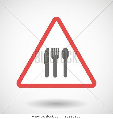 Warning Signal With Cutlery