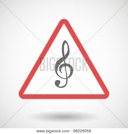 Warning Signal With A G Clef