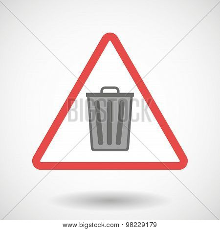 Warning Signal With A Trash Can