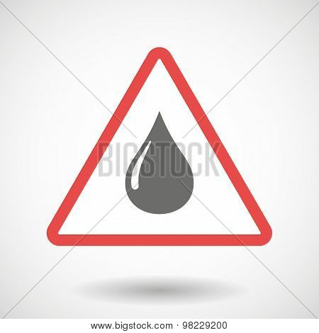 Warning Signal With A Fuel Drop
