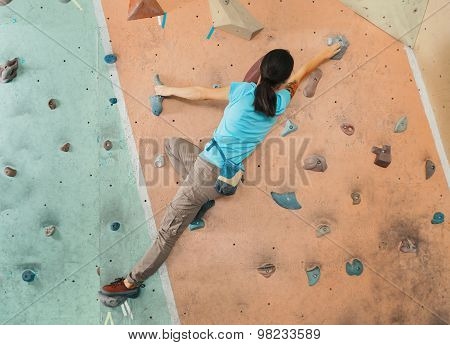 Climber Woman Training Indoor