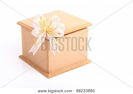 Wood Box Isolated On White Background