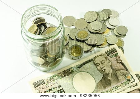 Japanese Yen And Thai Bath For Commercial