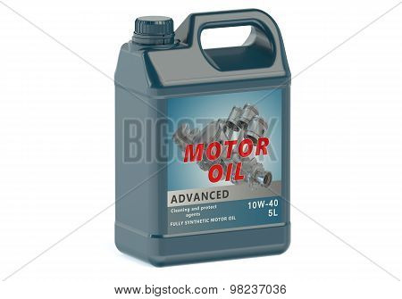 Blue Canister Motor Oil