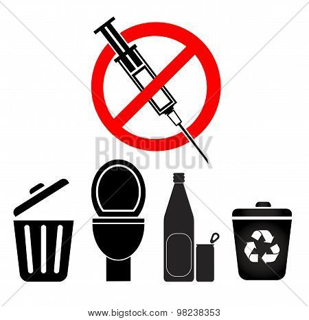 No Disposal For Syringes