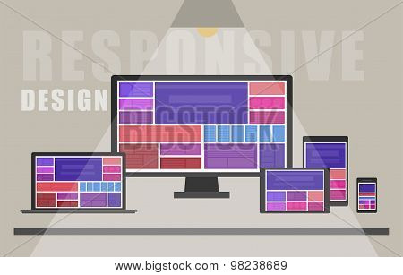 Responsive Web Design - Illustration - Eps 10