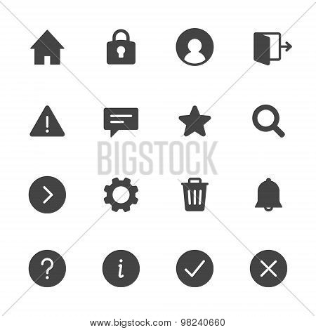 Basic Interface Icons