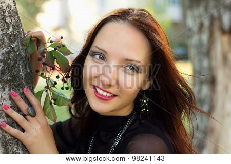 Portrait Of Beauty Smiling Woman