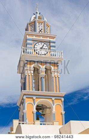 Santorini Church Clock Tower