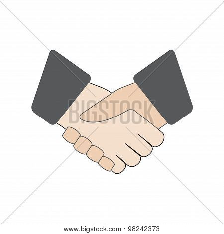Handshake icon or sign. Vector illustration.