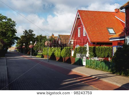 Central Promenade Of Nida. Nida Is A Resort Town. Neringa, Lithuania
