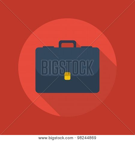 Business Flat Icon. Briefcase