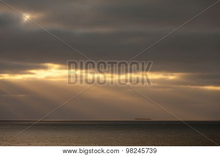 Germany, Lower Saxony, North Sea, Evening Mood