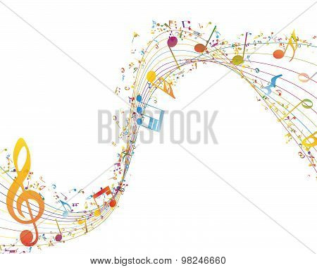 Musical Key With Notes Row