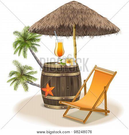 Vector Beach Bar Concept