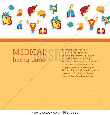 Concept of medical background.
