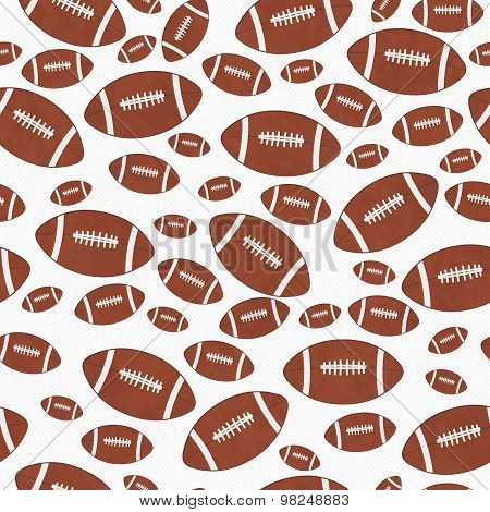 Brown And White Football Tile Pattern Repeat Background