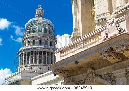 HAVANA, CUBA - CIRCA AUGUST 2015: The famous Capitol building in Havana, Cuba.
