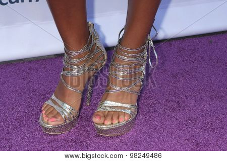LOS ANGELES - AUG 8:  Salli Richardson Whitfield (shoe detail) at the 17th Annual HollyRod Designcare Gala at the The Lot on August 8, 2015 in West Hollywood, CA