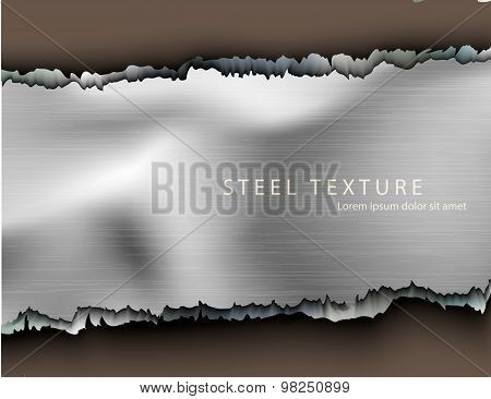 Template for the text from the metall background