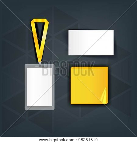 Promotional advertising set for business template