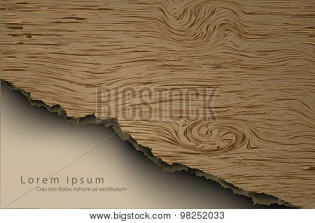 wooden background with shadows