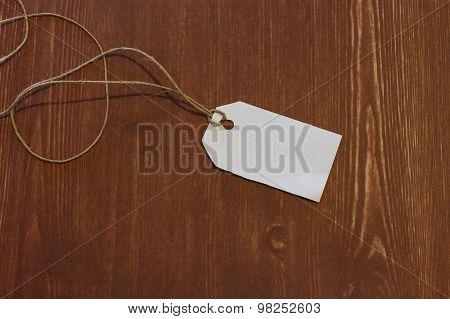 White Label Isolated Wood Background