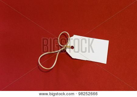 White Label Isolated Red Background