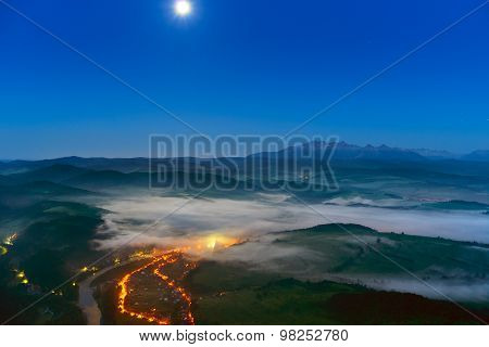 View From Three Crowns To The Tatra Mountains. Poland