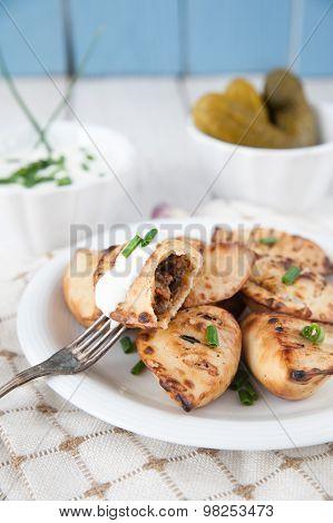 Fried Crunchy Dumplings For Dinner