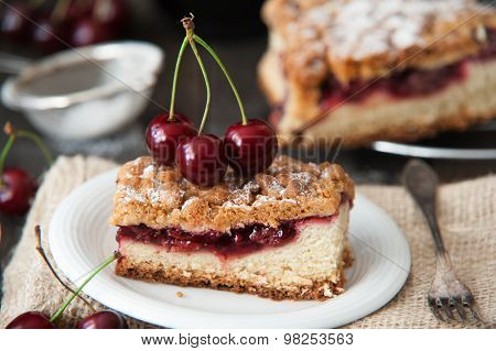 Delicious and sweet cherry pie