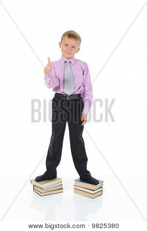 Little Boy On The Books