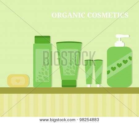 Organic Cosmetics Illustration.