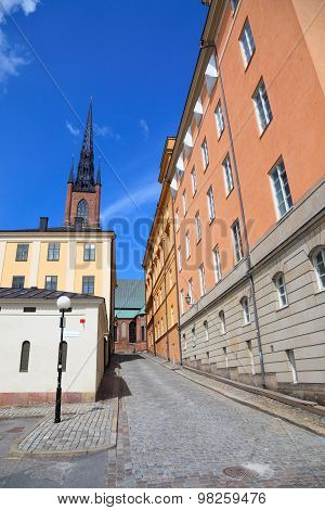 Architecture View Of Old Central Stockholm.  Swefen, Scandinavian Europe.