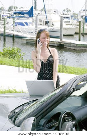 Attractive Young Red Head Business Woman