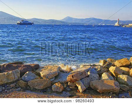 Luxury Yachts In Saint Tropez Harbor
